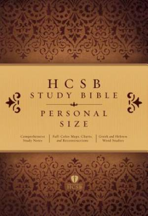 HCSB Study Bible: Personal Size Edition, Hardcover Indexed