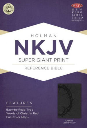 NKJV Super Giant Print Reference Bible Charcoal Imitation Leather Thumb Index