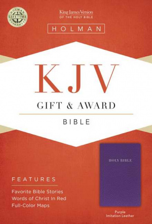 KJV Gift & Award Bible, Purple Imitation Leather