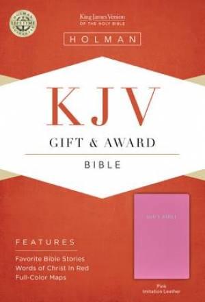 KJV Gift & Award Bible Pink Imitation Leather