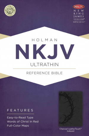 NKJV UltraThin Reference Bible, Charcoal imitation Leather, Thumb Index