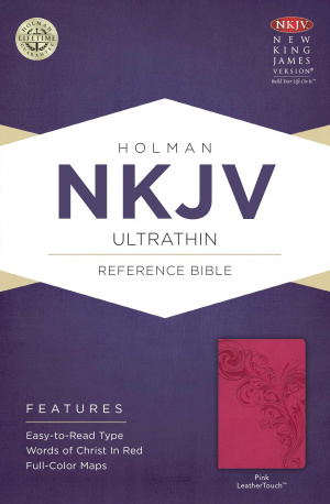 NKJV UltraThin Reference Bible, Pink Imitation Leather