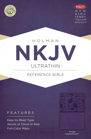 NKJV UltraThin Reference Bible, Purple Imitation Leather, Thumb Index
