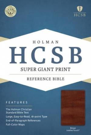 HCSB Super Giant Print Reference Bible, Brown Leathertouch I