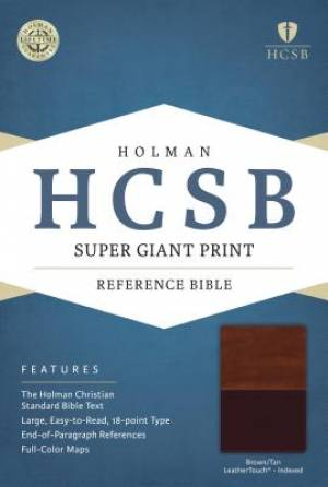 HCSB Super Giant Print Reference Bible, Brown/Tan Leathertou