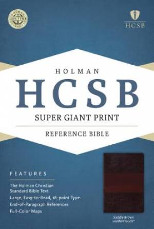 HCSB Super Giant Print Reference Bible, Saddlebrown Leathert