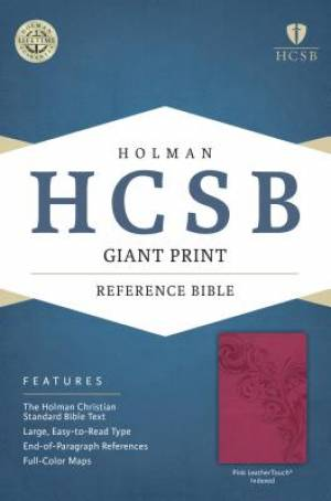 HCSB Giant Print Reference Bible, Pink Leathertouch Indexed