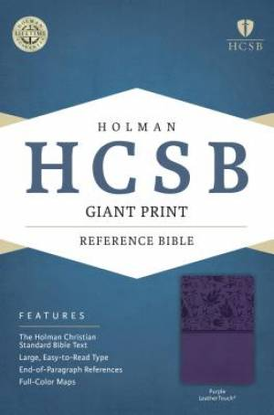 HCSB Giant Print Reference Bible, Purple Leathertouch