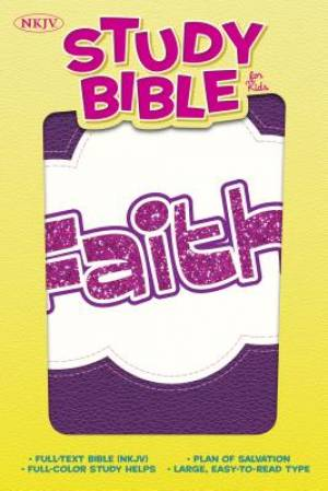 NKJV Study Bible for Kids Faith LeatherTouch