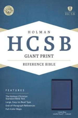 HCSB Giant Print Reference Bible, Cobalt Blue Leathertouch,