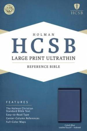 HCSB Large Print Ultrathin Reference Bible, Cobalt Blue Leat