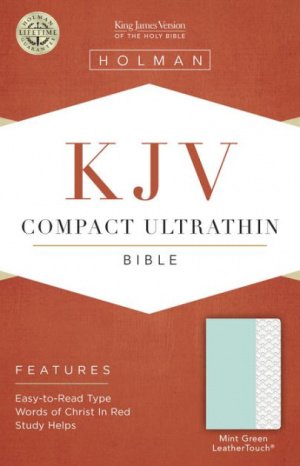 KJV Compact Ultrathin Bible, Mint Green Leathertouch