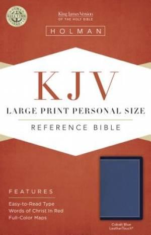 KJV Large Print Personal Size Reference Bible, Cobalt Blue