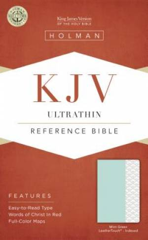 Kjv Ultrathin Reference Bible, Mint Green Leathertouch, Inde