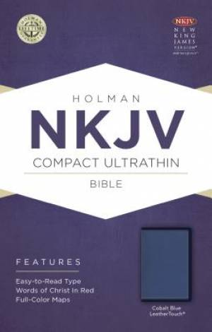 NKJV Compact Ultrathin Bible, Cobalt Blue Leathertouch