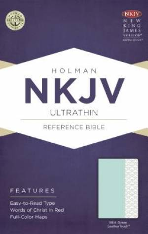 NKJV Ultrathin Reference Bible, Mint Green Leathertouch