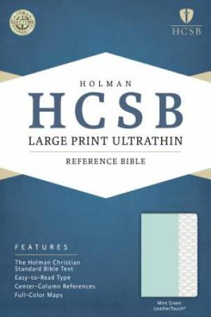 HCSB Large Print Ultrathin Reference Bible, Mint Green Leath
