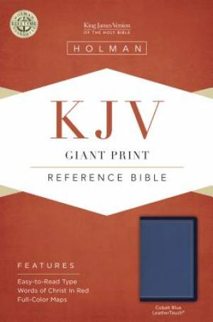Kjv Giant Print Reference Bible, Cobalt Blue Leathertouch