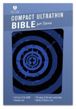 HCSB Compact Ultrathin Bible For Teens, Blue Vortex Leathert