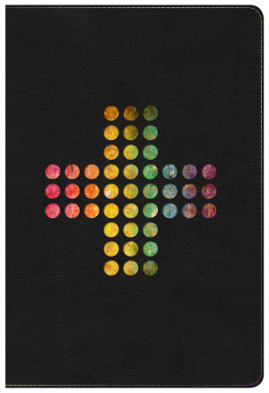 NIV Rainbow Study Bible, Pierced Cross Leathertouch