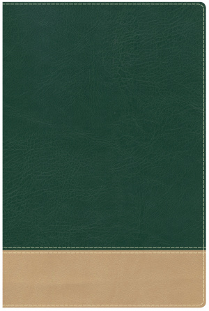 Teacher's Bible Green/Tan Leathertouch