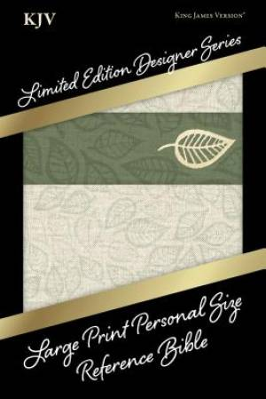 KJV Large Print Personal Size Reference Bible, Designer Series, Linen Leaves