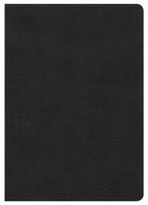 Nkjv Large Print Compact Reference Bible, Black Leathertouch