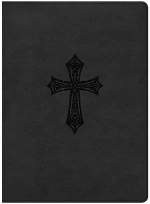 HCSB Gospel Project Bible, Black Cross Leathertouch