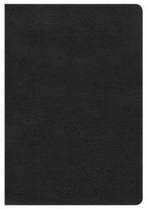 Hcsb Giant Print Reference Bible, Black Leathertouch, Indexe