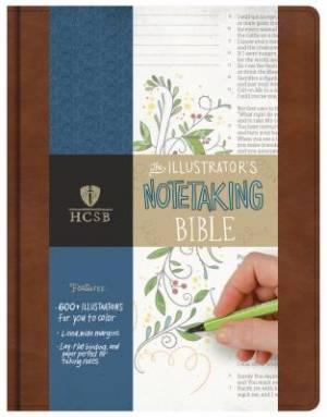 HCSB Illustrator's Notetaking Bible: Bonded Leather, British Tan