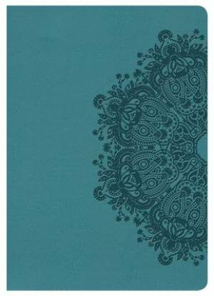 Hcsb Large Print Compact Bible, Teal Leathertouch