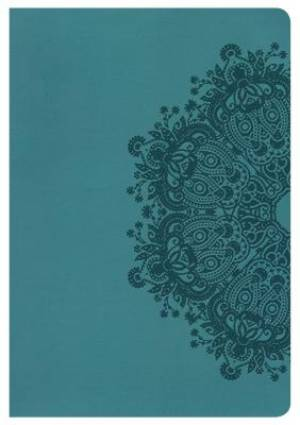 Hcsb Large Print Ultrathin Reference Bible, Teal Leathertouc