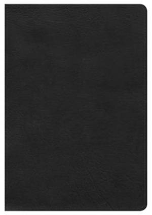 Hcsb Large Print Ultrathin Reference Bible, Black Leathertou