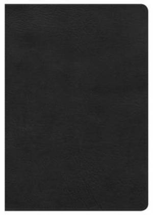 Hcsb Super Giant Print Reference Bible, Black Leathertouch,