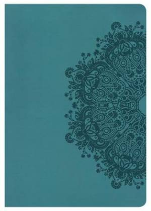 Hcsb Super Giant Print Reference Bible, Teal Leathertouch