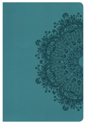 Nkjv Large Print Personal Size Reference Bible, Teal Leather