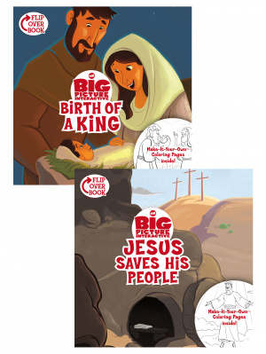 Birth Of A King/Jesus Saves His People Flip-Over Book