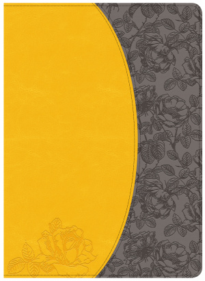 Holman Study Bible: Nkjv Edition, Canary/Slate Grey, Leather
