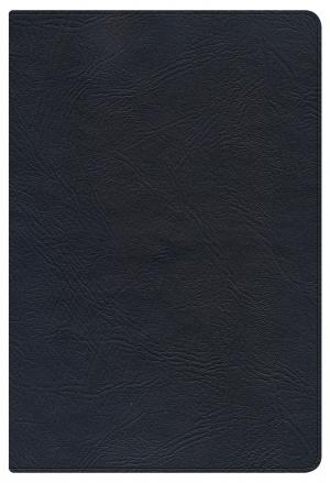 NKJV Large Print, Personal Size, Reference Bible, Black Genuine Leather