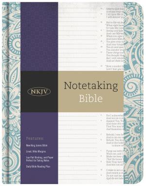 NKJV Notetaking Bible, Blue Floral
