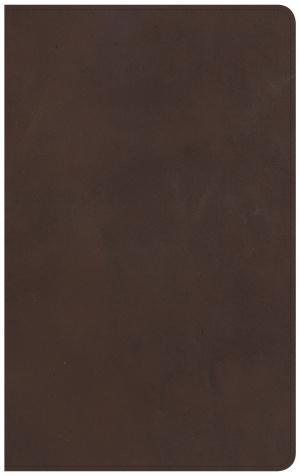 CSB Ultrathin Reference Bible, Brown Genuine Leather, Indexe