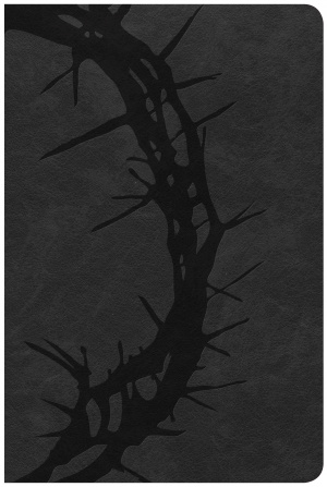 CSB Large Print Personal Size Reference Bible, Charcoal Leat