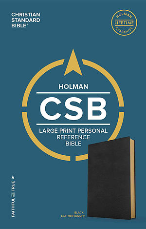 CSB Large Print Personal Size Reference Bible, Black