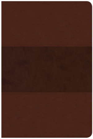 CSB Large Print Personal Size Reference Bible, Saddle Brown