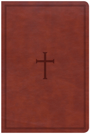 CSB Large Print Personal Size Reference Bible, Brown Leather