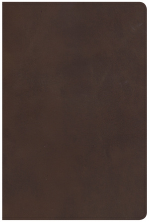 CSB Giant Print Reference Bible, Brown Genuine Leather, Inde
