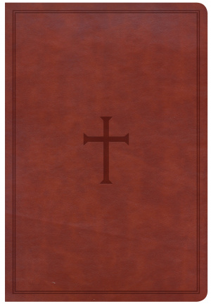 CSB Giant Print Reference Bible, Brown Leathertouch