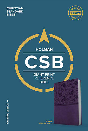 CSB Giant Print Reference Bible, Purple