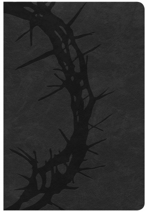 CSB Giant Print Reference Bible, Charcoal Leathertouch