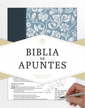 RVR 1960 Biblia de apuntes - Azul - Piel genuina y tela impr